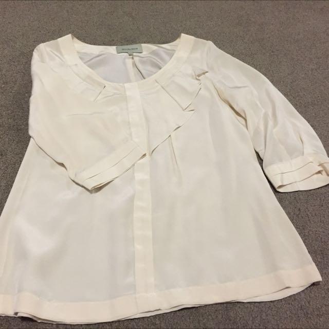 Veronika Maine Blouse 100% Silk Size 6