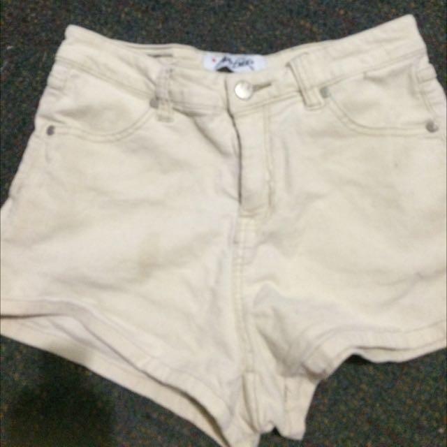 White Ava Ever Shorts