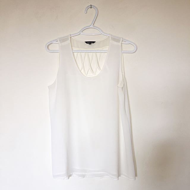 White Caged Top