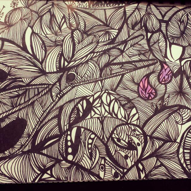 Zen Tangle Art A4 Size