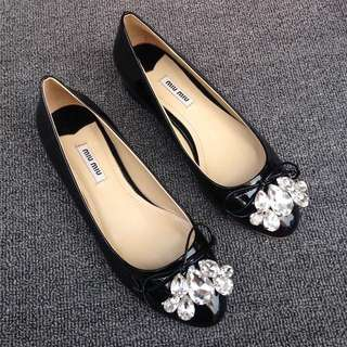 Miu Miu Jeweled Flats