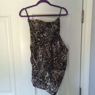bebe Strapless Dress size S