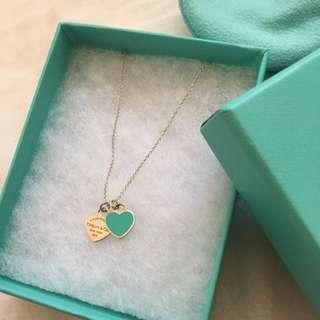 Tiffany & Co Double Heart Necklace