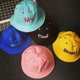 韓國可愛馬卡龍系列字母漁夫帽