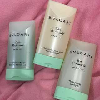 Bulgari Green Tea Shower Set