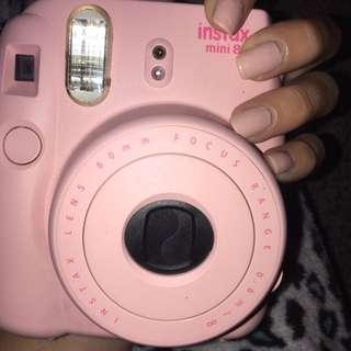 pink instax mini 8 Polaroid camera