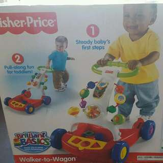 Fisher And Price Wagon To Walker