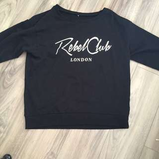 "H&M ""Rebel club"" sweater black"