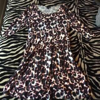 Purple Leopard Print Dress Size 18