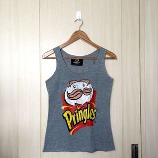 Pringles Printed Grey Shirt