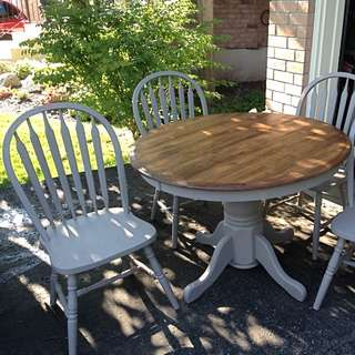 Table And 4 Chairs beautifully Refinished