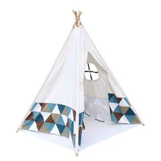 4 Poles Teepee Tent w/ Storage Bag Children Baby Play