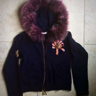 Laura Biagiotti Fur-Lined Hoodie