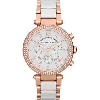 Michael Kors Rose gold and white watch