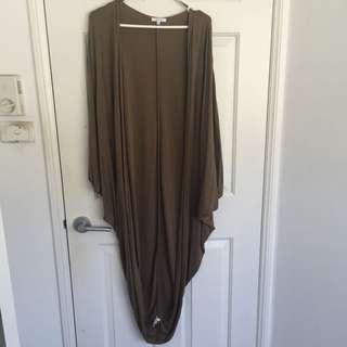 Long Cardigan, Green Size 10