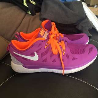 Nike Free Purple & Orange Runners