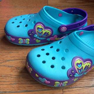 Kids' CrocsLights Butterflies size junior 2