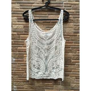 H&M Lace Sleeveless Top