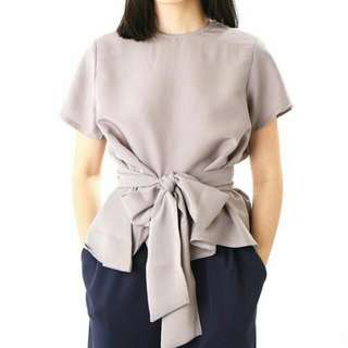 Tied Blouse Grey