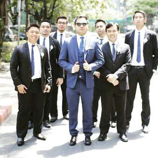 PERFECT BLUE FOR THE GROOM! Coat & Pants for RENT or SALE!