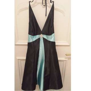 Silk Halter Party Dress