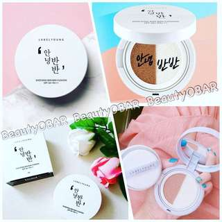 🔆《 Label Young 》超療癒韓文字「你好,半半」氣墊粉餅🔆