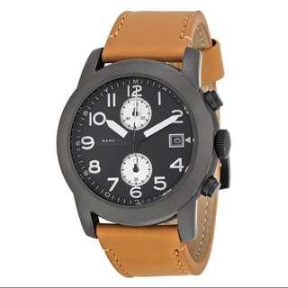 現貨 MBM5053 C.P.Max保證真品 MARC JACOBS 馬克 手錶 46mm 皮錶帶 計時 男錶 美國購回