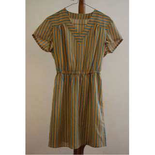 Vintage Striped Summer Dress