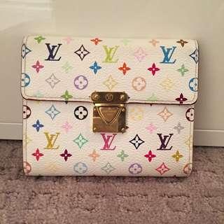 White Multiple Colour Lv Wallet