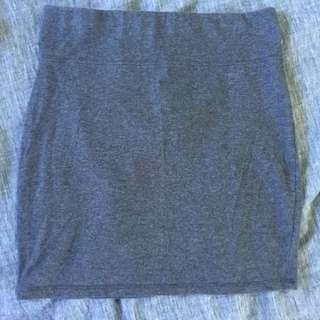 RESERVED Grey Bodycon Mini Skirt