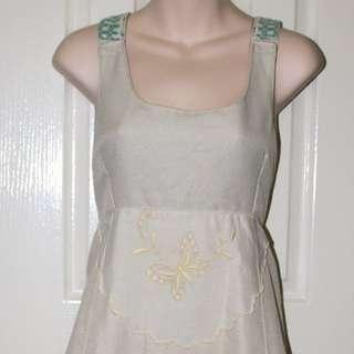 Unique Pinafore Dress M