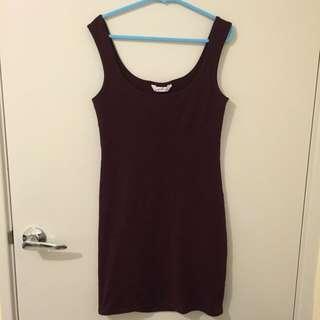 Maroon Bodycon Dress
