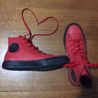 Red Leather Chucks (hightops)