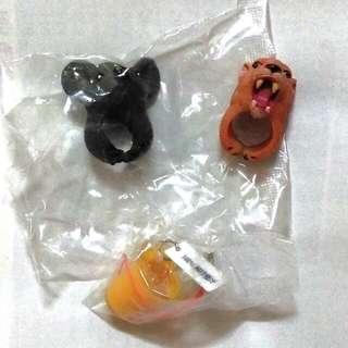 動物造型戒指,柳橙汁扭蛋