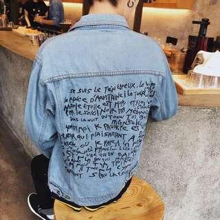 韓國牛仔衣夾克