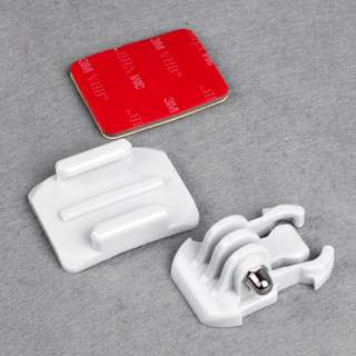 NEW! Buckle Strap Helmet Curved Surface & Mount White for Gopro Hero 2 3