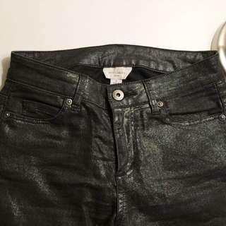 NEW Witchery Size 4/6 Shinny Black Skinny