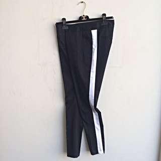 Lazada: Black Striped Pants