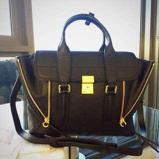 3.1 Phillip Lim Medium Black Pashli Bag (w/ Receipt And Dustbag) RRP $1100