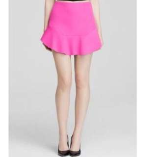 Bardot Hot Pink Mini Scuba Skirt