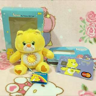Care Bears Funshine Bear Plush & Credit Card