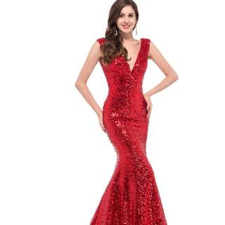 Red Sequin Formal Dress/Ball Gown