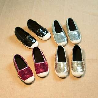 Sequined Kids Slip on Shoes