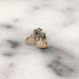 Gold Hearts Earrings & Bangle Set