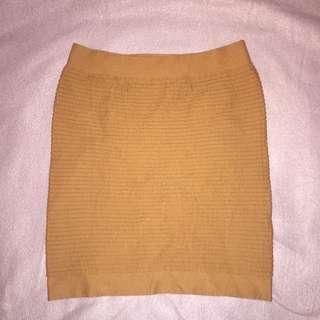 Tan Body Con Skirt