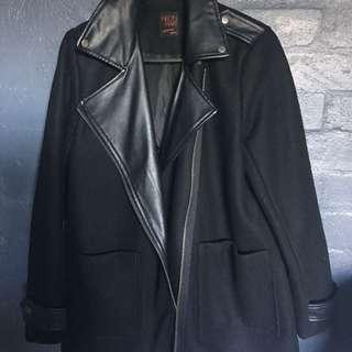 NEON HART black Leather Coat