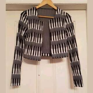 Metalicus Black & White Crop Jacket