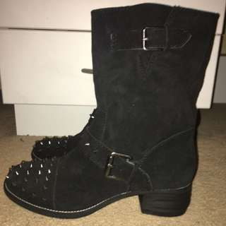 New Studded Boots 8.5