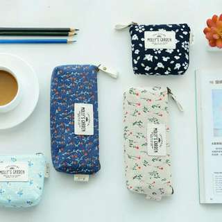 Floral pencil box and coin pouch (preorder)
