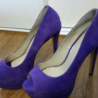 ZU Purple Suede High Heels